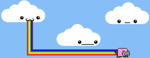 The Birth of Nyan Cat by ShadowFoxGraphics