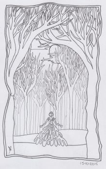 Alone in the Woods by Bekaboo666
