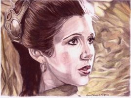 Jedi Leia in Color by khinson