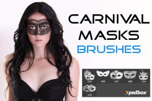 Carnival Masks Brushes by UmbraDeNoapte-Stock