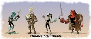 Hellboy Cartoon by Eromatics