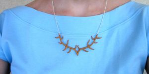 Game of Thrones Inspired Antler Necklace by ClayMyDay