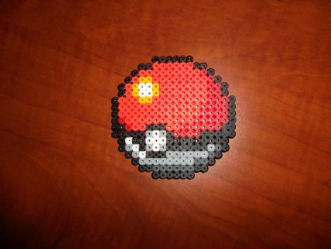 Perler Bead Pokeball by EP-380