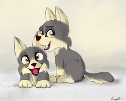 Wolf Puppies by LumenGlace