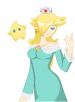 Rosalina+Luma by SparkTheUmbreon