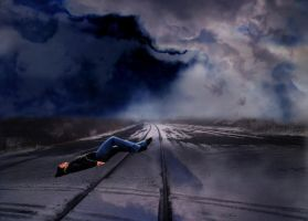 train track sleeping by mysteriousfantasy