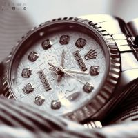 Rolex datejust watch white face by ailsalu