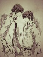 Aidan and Wess by iraya0212