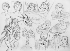 How To Train Your Dragon sketches by spaceMAXmarine