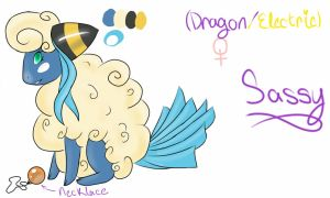 Mareep/Altaria Adoptable for another site by ricaanne13