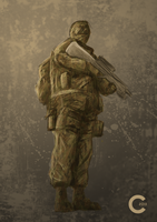 Commission: Soldier by LEMOnz07