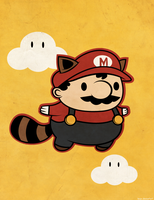 Raccoon Mario by beyx