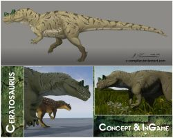 Ceratosaurus - Concept and InGame by c-compiler