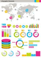 Free Infographics design elements vector set by FreeIconsdownload