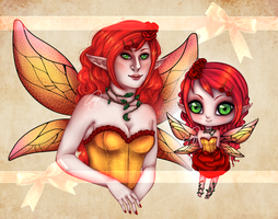 ADOPT [open] : Rose fairy by Meet-our-Maker