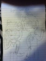 Me and jackie light and ice wip out by xlightbluesnowflakex