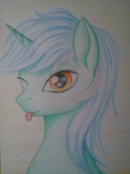 Lyra Heartstrings Portrait by Pony-Stark
