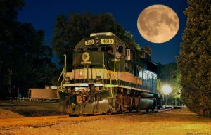 4610 and the super moon by Joseph-W-Johns