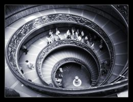 Stairs of the Vatican Museum by Magical-Night