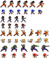 Sonic Attacks (DBZ Style) by MyPicts