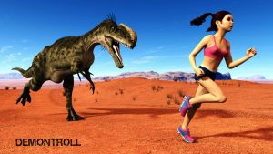 Dinosaur Fun Run by demontroll