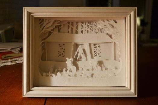Army of darkness papercut lightbox (light off) by christophosaure