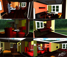 Condominium House - MMD Stage DL by chococat9001