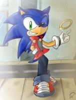 Sonic casual - color by Merryan