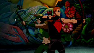 Artemis and Red Arrow by SpitfireJoanne96
