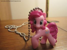 My Little Pony FIM Pinkie Pie Necklace by colbyjackchz