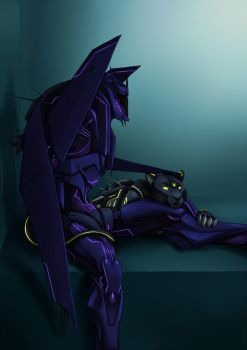 Commission - TFP Soundwave and Ravage by M-hourglass