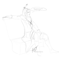 Sephiroth Sketch by RayrayDesigns