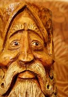 Woodland Elf Wood Carving 1 by RiverOtterWidget