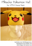 Hand-knitted Pikachu Hat by Stitch-Happy
