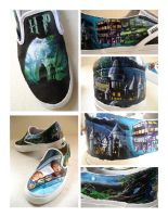 Harry Potter Shoes: Shoe 2 by sk8er-l8er