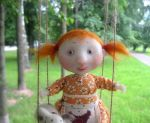 one summer day on a swing by talitka