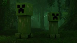 Creepers' Natural Habitat by TheUnknownCreator