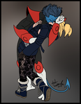 Commission- Roxie Richter and Nightcrawler by R2ninjaturtle