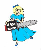 chainsaw girl revisited by Hardy-in-Wonderland