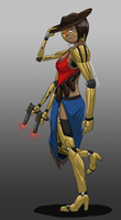 sixshot cowgirl concept by ScottaHemi