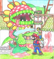 Super Mario Sunshine - Petey Piranha Strikes Back by Villaman89