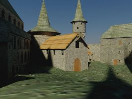 3ds Max castle with textures by SolidAlexei