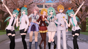 [MMD+DL] School Pack and Beast Models by 01mikuxlen02