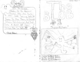 The Blob No.1 Cover and back by davids-sketchbook