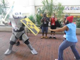 Otakon 2013 - Sir Daniel vs. Parappa 2 by mugiwaraJM