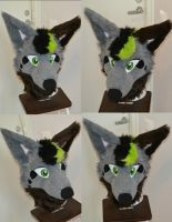 Comission head - Rave Wolf by blackpawcreatures