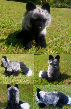 Silver Fox plushie 8D by Skeleion