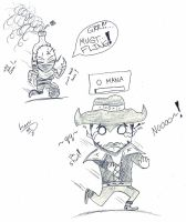LoL-Singed Chases Twisted Fate by LSWriter