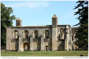 Glastonbury Abbey by In-the-picture