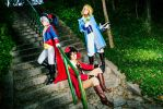 They are coming... - Bad Touch Trio cosplay by Voldiesama